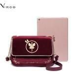 Túi xách nữ phối vải nhung Just Star Virgo VG428