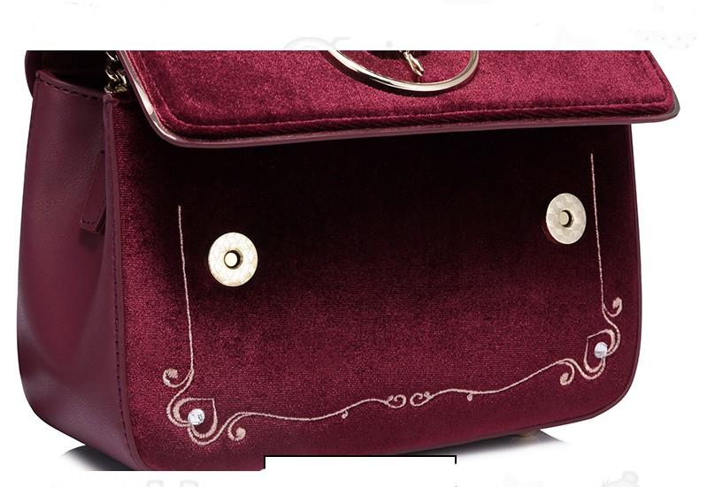 Túi xách nữ phối vải nhung Just Star Virgo VG427