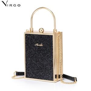 Túi nữ hình hộp chữ nhật đứng da kim tuyến Nucelle Virgo VG440